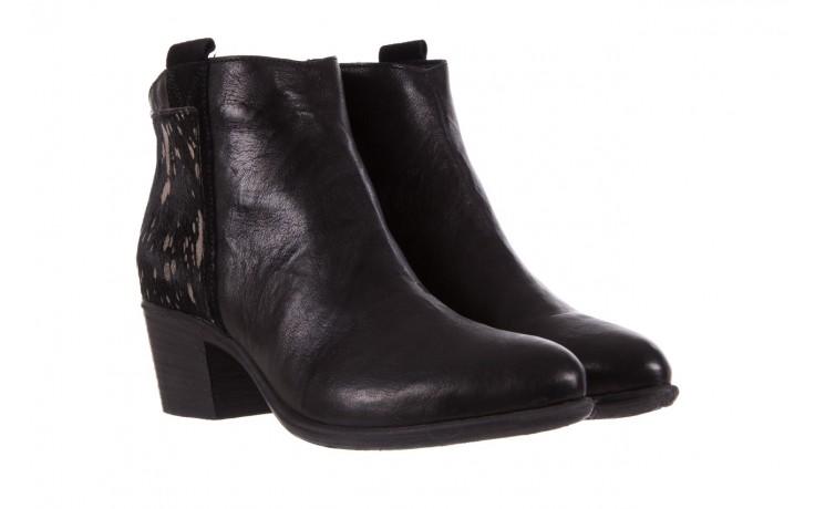Botki bayla-131 7705 nero, czarny, skóra naturalna  - worker boots - trendy - kobieta 1