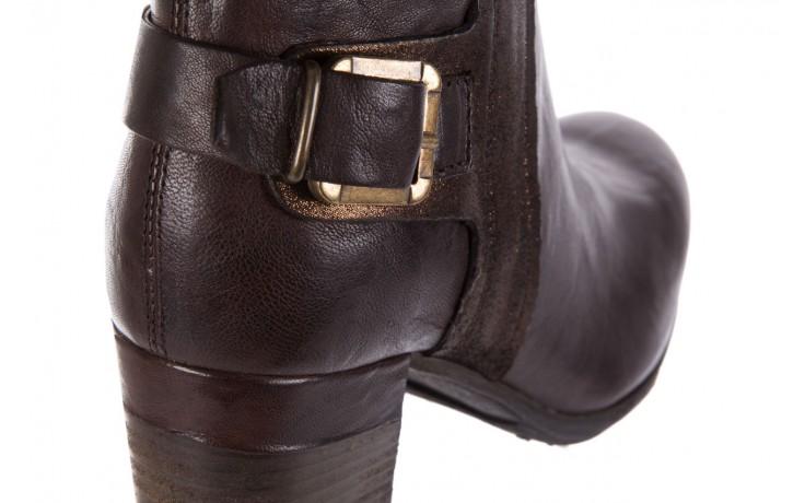 Botki bayla-131 8806 t.moro, brąz/ złoto, skóra naturalna  - kowbojki / boho - botki - buty damskie - kobieta 5