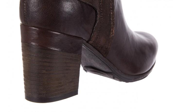 Botki bayla-131 8806 t.moro, brąz/ złoto, skóra naturalna  - kowbojki / boho - botki - buty damskie - kobieta 6