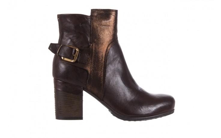 Botki bayla-131 8806 t.moro, brąz/ złoto, skóra naturalna  - kowbojki / boho - botki - buty damskie - kobieta