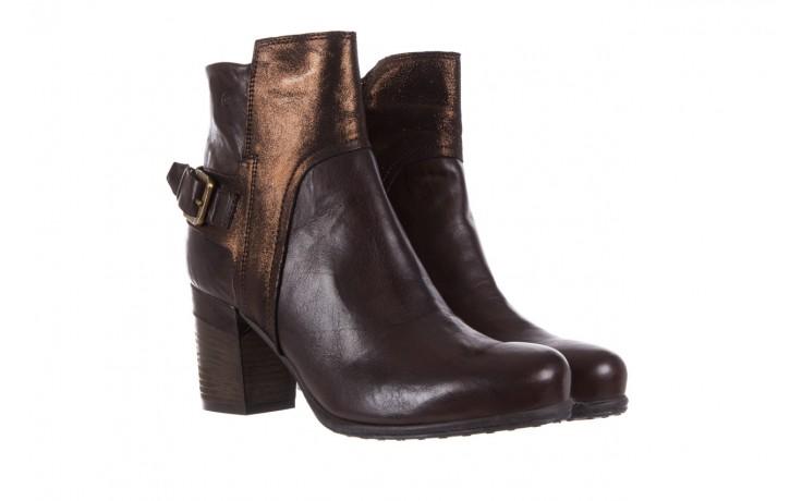 Botki bayla-131 8806 t.moro, brąz/ złoto, skóra naturalna  - kowbojki / boho - botki - buty damskie - kobieta 1
