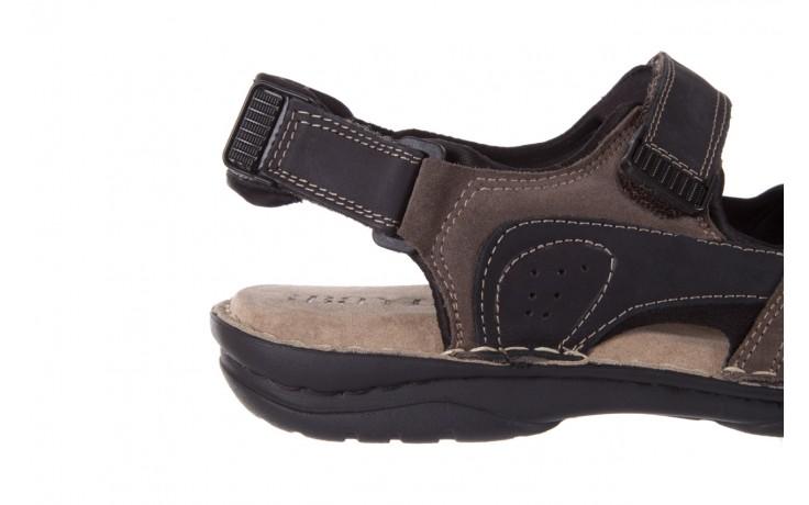 Sandały bayla-133 9520 nabuc nero, brąz, skóra naturalna 5