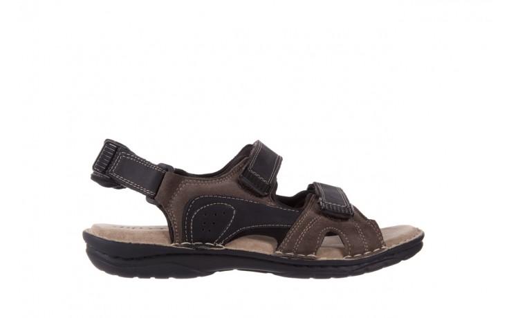 Sandały bayla-133 9520 nabuc nero, brąz, skóra naturalna