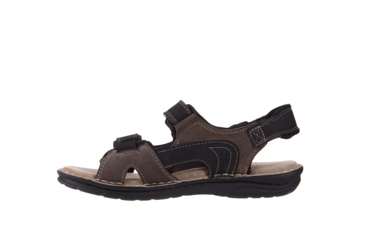 Sandały bayla-133 9520 nabuc nero, brąz, skóra naturalna 2