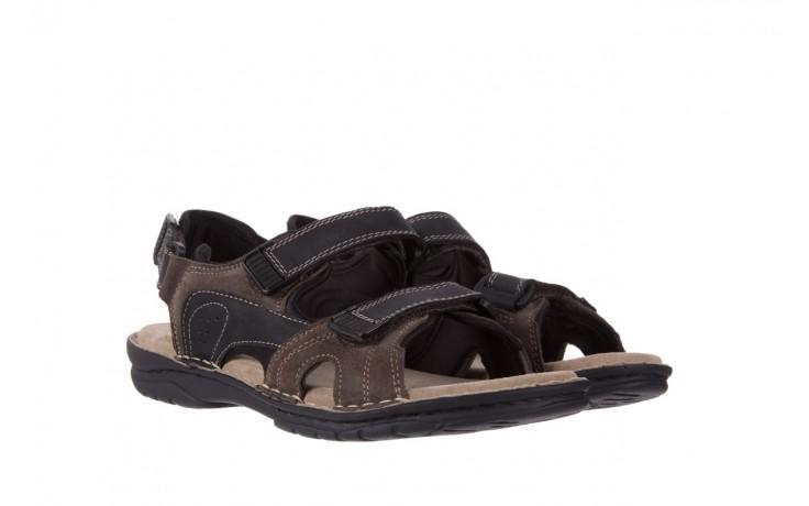 Sandały bayla-133 9520 nabuc nero, brąz, skóra naturalna 1