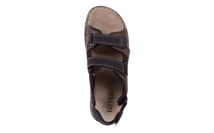 Sandały bayla-133 9520 nabuc nero, brąz, skóra naturalna 4