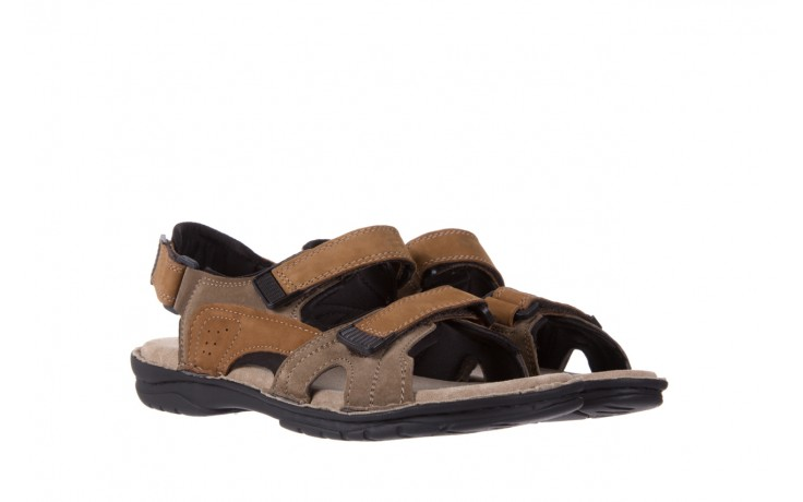 Sandały bayla-133 9520 nabuc nicotina, brąz, skóra naturalna 1