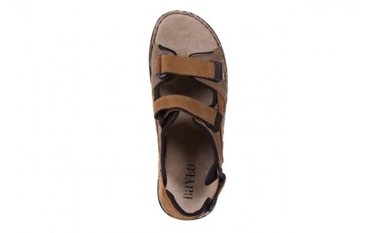 Sandały bayla-133 9520 nabuc nicotina, brąz, skóra naturalna 4