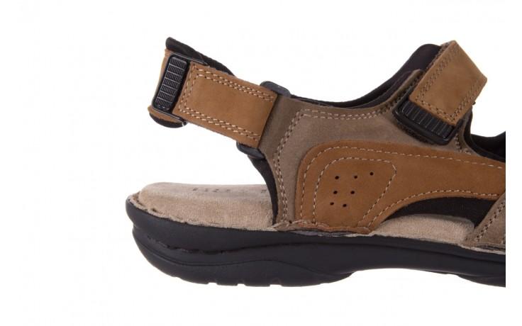 Sandały bayla-133 9520 nabuc nicotina, brąz, skóra naturalna 5
