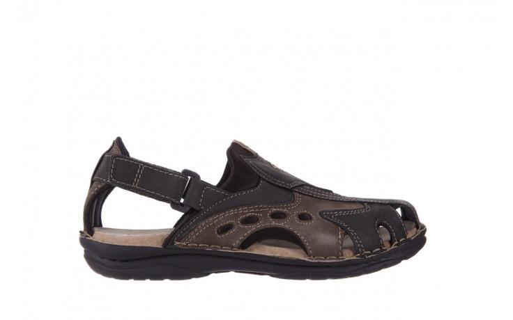 Sandały bayla-133 9522 nabuc smog, brąz, skóra naturalna  - sandały - dla niego - sale