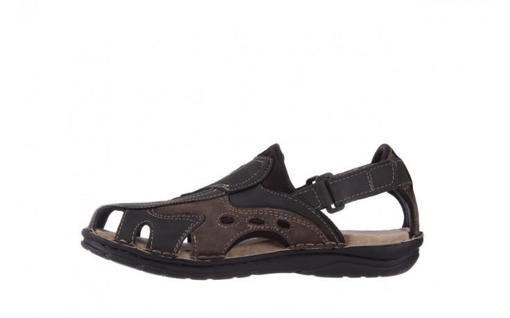 Sandały bayla-133 9522 nabuc smog, brąz, skóra naturalna  - sandały - dla niego - sale 2