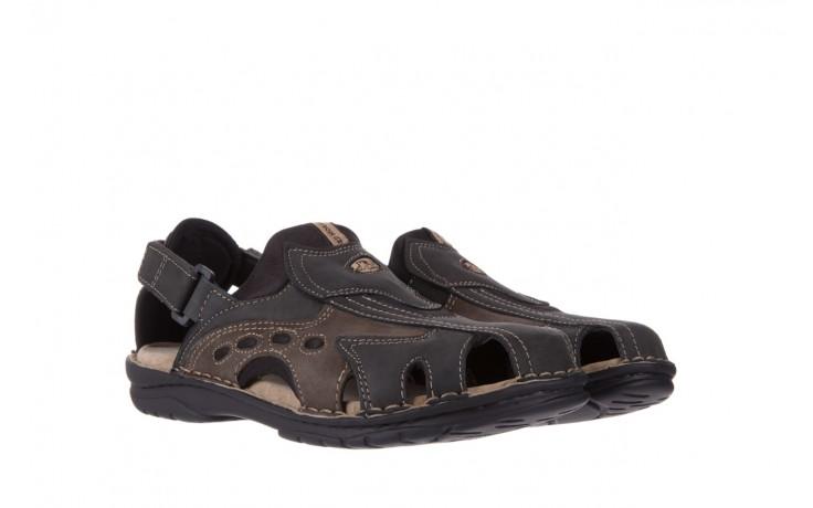 Sandały bayla-133 9522 nabuc smog, brąz, skóra naturalna  - sandały - dla niego - sale 1