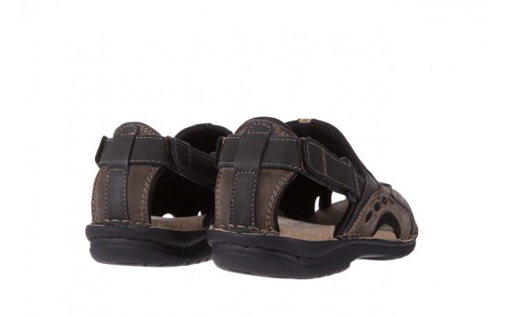 Sandały bayla-133 9522 nabuc smog, brąz, skóra naturalna  - sandały - dla niego - sale 3