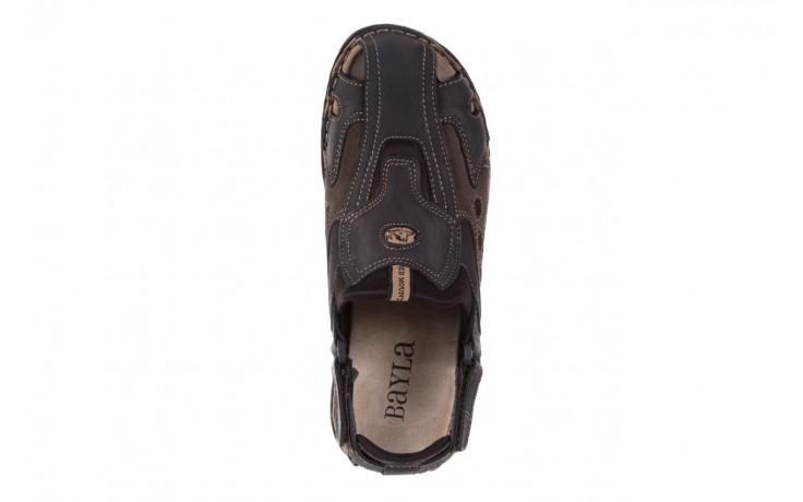 Sandały bayla-133 9522 nabuc smog, brąz, skóra naturalna  - sandały - dla niego - sale 4
