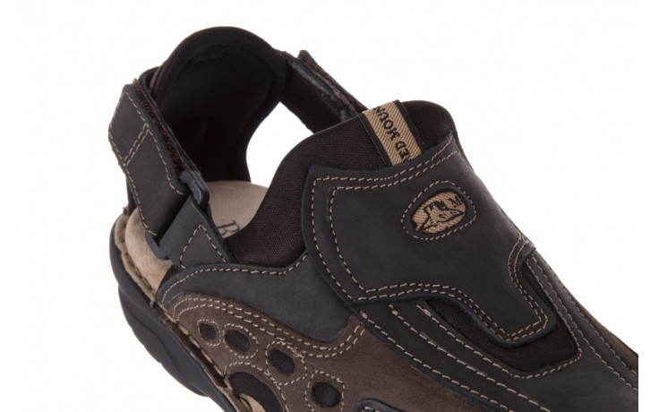 Sandały bayla-133 9522 nabuc smog, brąz, skóra naturalna  - sandały - dla niego - sale 5