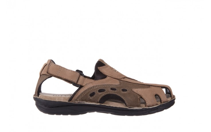 Sandały bayla-133 9522 nabuc tortora, brąz, skóra naturalna