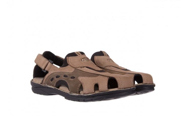 Sandały bayla-133 9522 nabuc tortora, brąz, skóra naturalna  - sandały - dla niego - sale 1