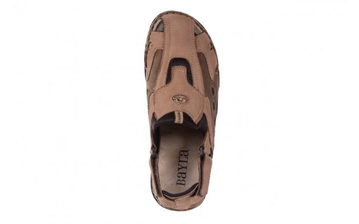Sandały bayla-133 9522 nabuc tortora, brąz, skóra naturalna 4