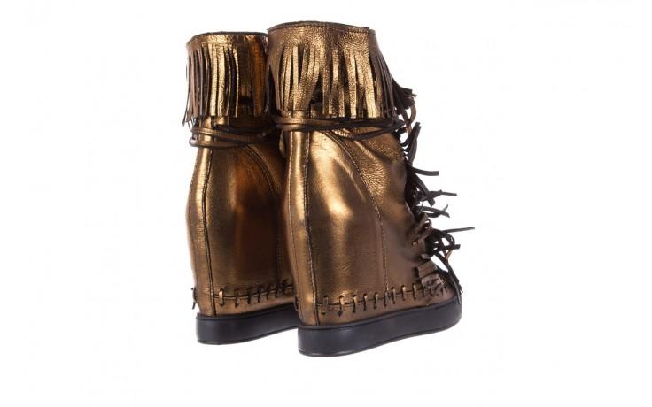 Botki bayla-136 g655 skóra złota, skóra naturalna  - na platformie - botki - buty damskie - kobieta 3