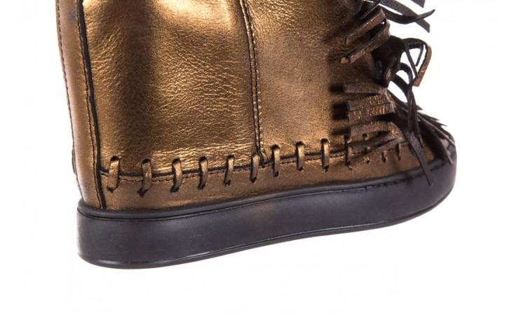 Botki bayla-136 g655 skóra złota, skóra naturalna  - na platformie - botki - buty damskie - kobieta 6