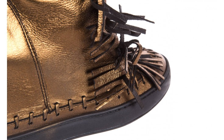 Botki bayla-136 g655 skóra złota, skóra naturalna  - na platformie - botki - buty damskie - kobieta 5