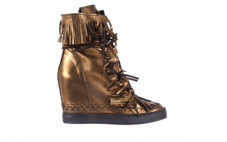 Botki bayla-136 g655 skóra złota, skóra naturalna  - na platformie - botki - buty damskie - kobieta