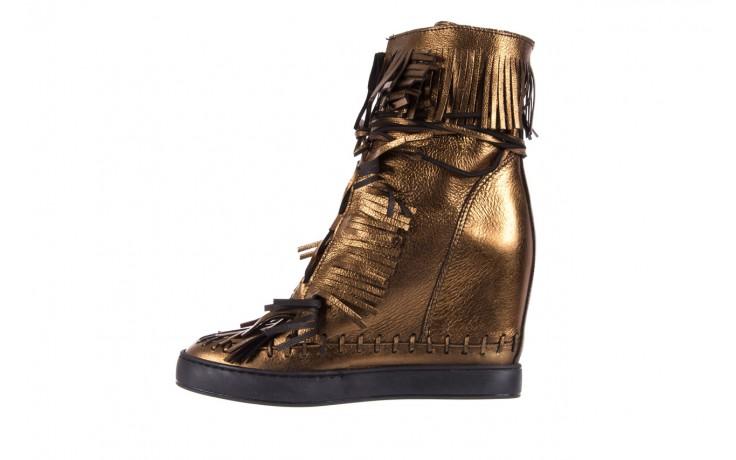 Botki bayla-136 g655 skóra złota, skóra naturalna  - na platformie - botki - buty damskie - kobieta 2