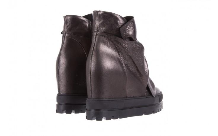 Botki bayla-136 g710 skóra antracyt, szary, skóra naturalna  - na platformie - botki - buty damskie - kobieta 3