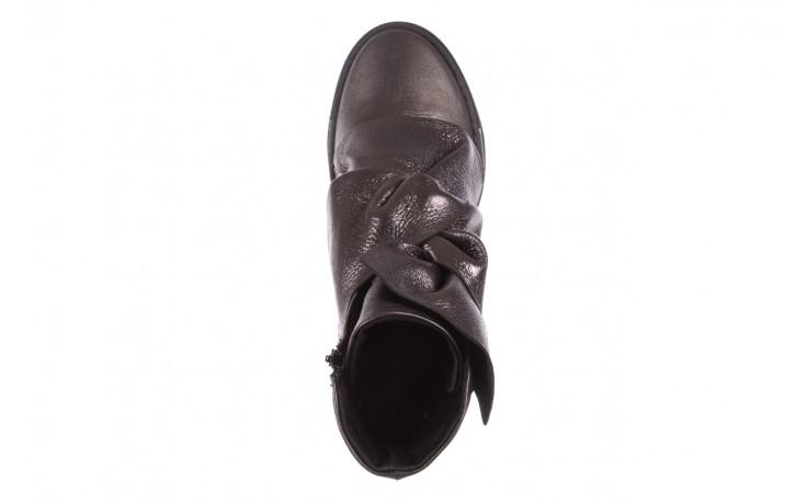 Botki bayla-136 g710 skóra antracyt, szary, skóra naturalna  - na platformie - botki - buty damskie - kobieta 4