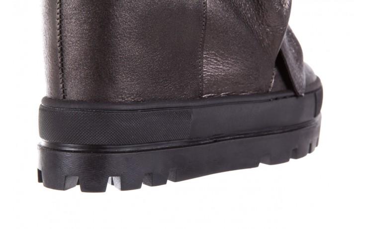 Botki bayla-136 g710 skóra antracyt, szary, skóra naturalna  - na platformie - botki - buty damskie - kobieta 6
