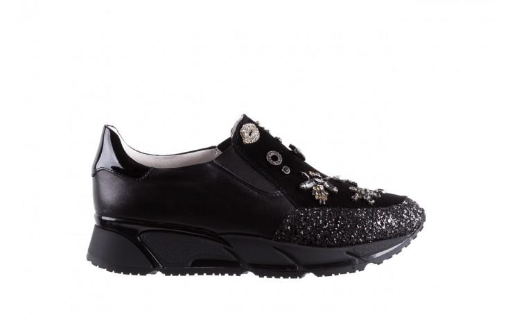 Sneakersy bayla-144 pj722l-16-1a black, czarny, skóra naturalna  - bayla - nasze marki