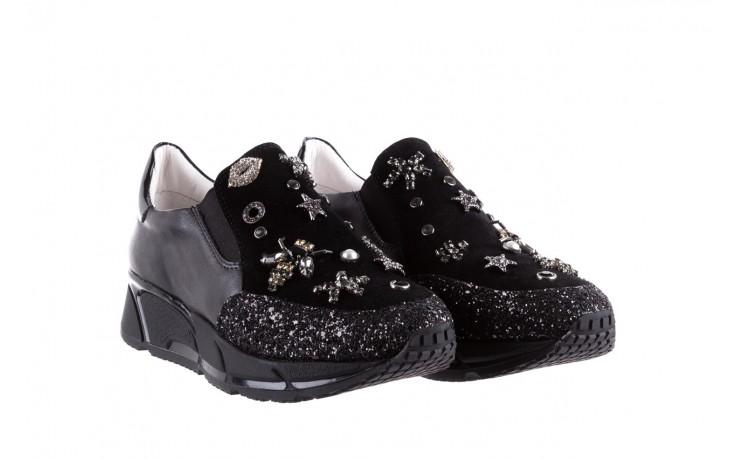 Sneakersy bayla-144 pj722l-16-1a black, czarny, skóra naturalna  - bayla - nasze marki 1
