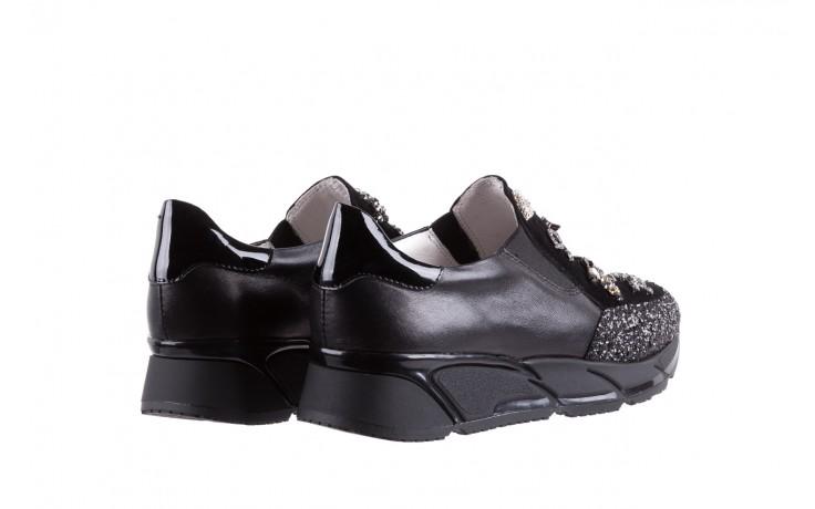 Sneakersy bayla-144 pj722l-16-1a black, czarny, skóra naturalna  - bayla - nasze marki 3
