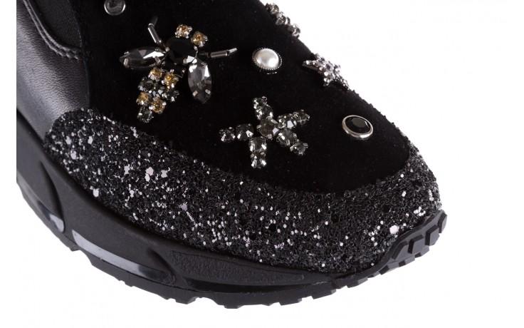 Sneakersy bayla-144 pj722l-16-1a black, czarny, skóra naturalna  - bayla - nasze marki 5