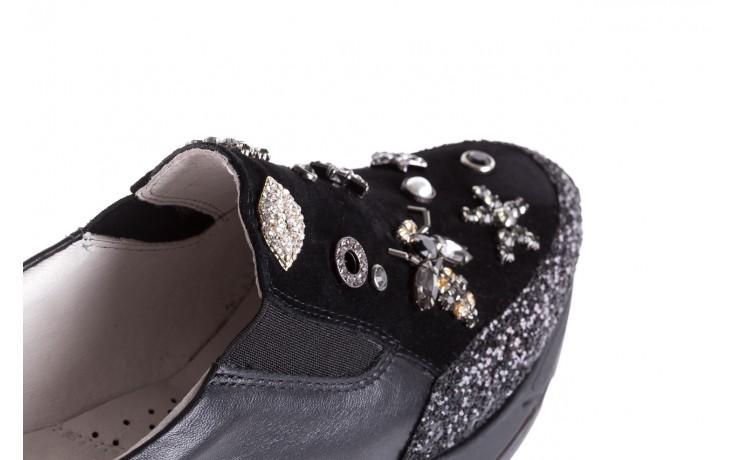 Sneakersy bayla-144 pj722l-16-1a black, czarny, skóra naturalna  - bayla - nasze marki 6