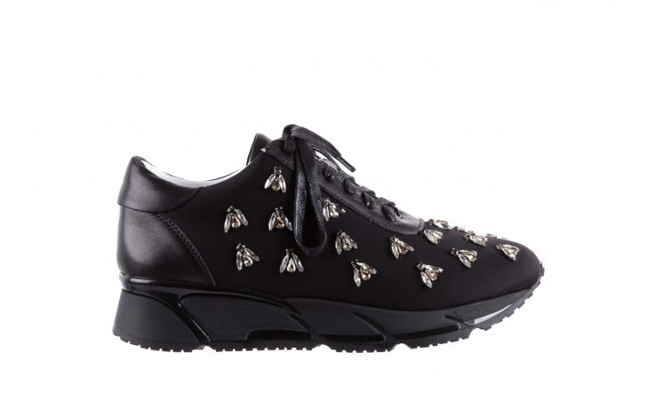 Sneakersy bayla-144 pj722l pj718l-9-1n black, czarny, skóra naturalna  - bayla - nasze marki