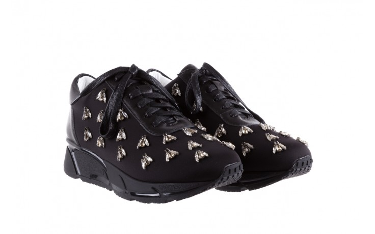 Sneakersy bayla-144 pj722l pj718l-9-1n black, czarny, skóra naturalna  - bayla - nasze marki 1