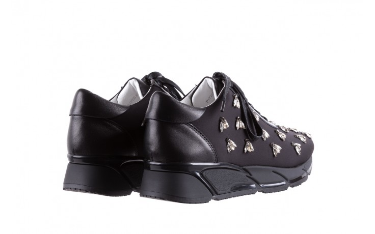 Sneakersy bayla-144 pj722l pj718l-9-1n black, czarny, skóra naturalna  - bayla - nasze marki 3