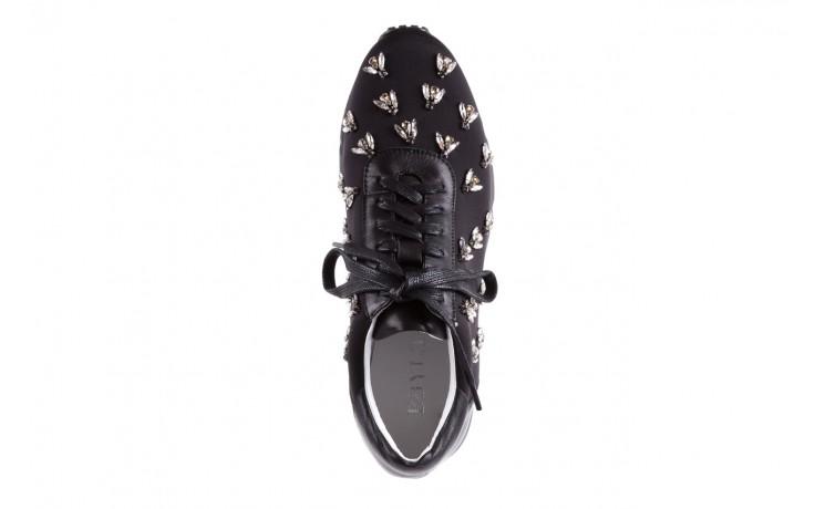 Sneakersy bayla-144 pj722l pj718l-9-1n black, czarny, skóra naturalna  - bayla - nasze marki 4