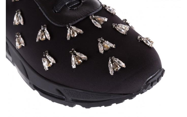 Sneakersy bayla-144 pj722l pj718l-9-1n black, czarny, skóra naturalna  - bayla - nasze marki 5
