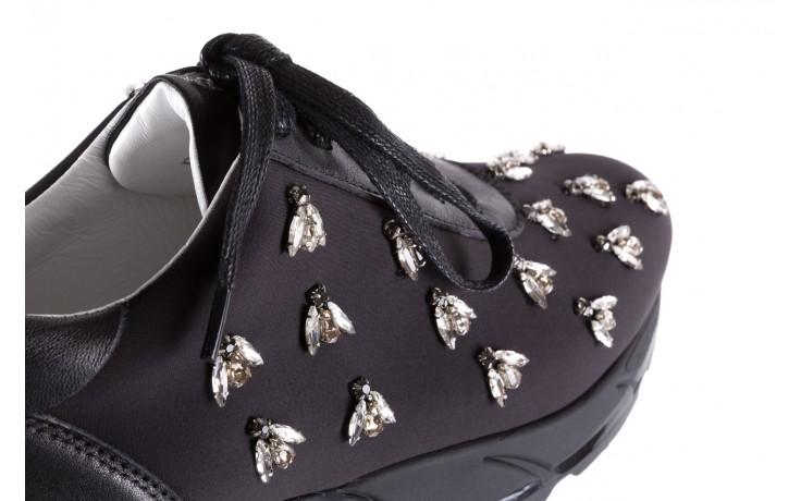 Sneakersy bayla-144 pj722l pj718l-9-1n black, czarny, skóra naturalna  - bayla - nasze marki 6