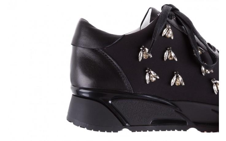 Sneakersy bayla-144 pj722l pj718l-9-1n black, czarny, skóra naturalna  - bayla - nasze marki 7