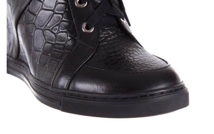 Sneakersy bayla-144 ps508h-16b-1n black, czarny, skóra naturalna  - bayla - nasze marki 5