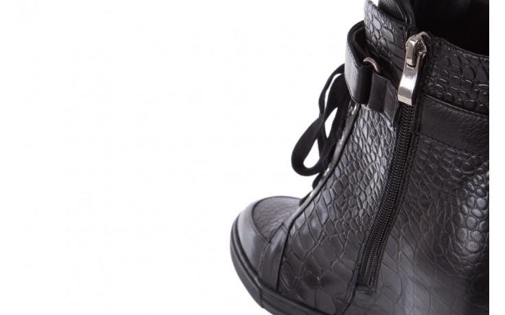 Sneakersy bayla-144 ps508h-16b-1n black, czarny, skóra naturalna  - bayla - nasze marki 7