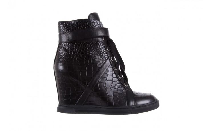 Sneakersy bayla-144 ps508h-16b-1n black, czarny, skóra naturalna  - bayla - nasze marki