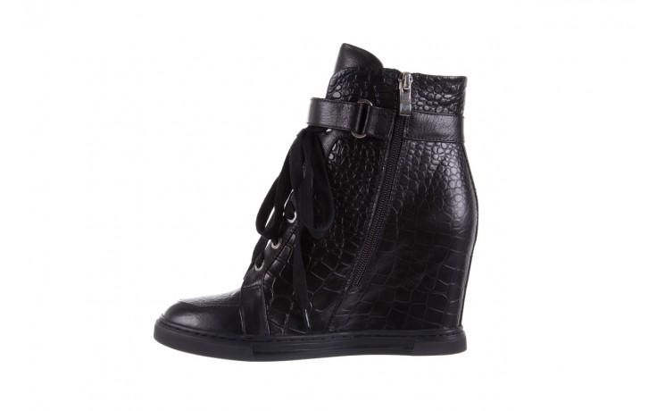 Sneakersy bayla-144 ps508h-16b-1n black, czarny, skóra naturalna  - bayla - nasze marki 2