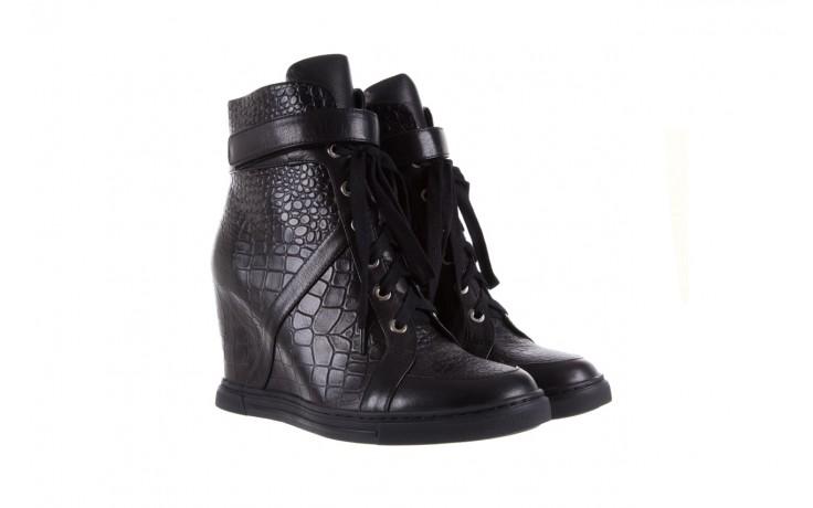 Sneakersy bayla-144 ps508h-16b-1n black, czarny, skóra naturalna  - bayla - nasze marki 1