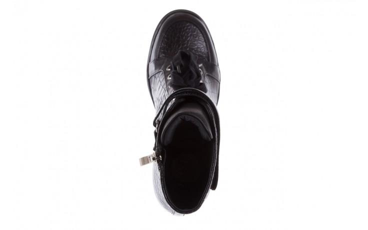 Sneakersy bayla-144 ps508h-16b-1n black, czarny, skóra naturalna  - bayla - nasze marki 4