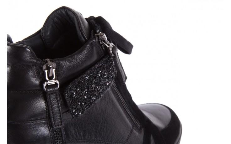 Sneakersy bayla-144 ps508h-75-1n black 17, czarny, skóra naturalna 6
