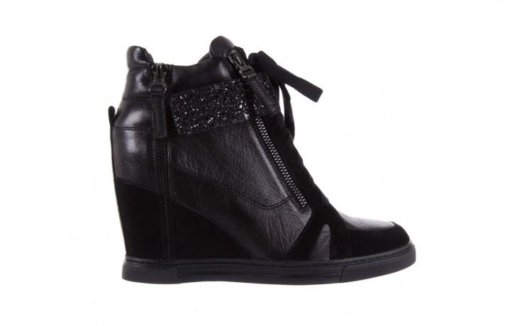 Sneakersy bayla-144 ps508h-75-1n black 17, czarny, skóra naturalna